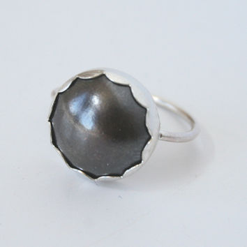 Black copper dome ring