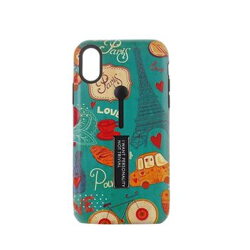 Eiffel Tower Pattern Embossment Phone Case Slim Fit Hard Case