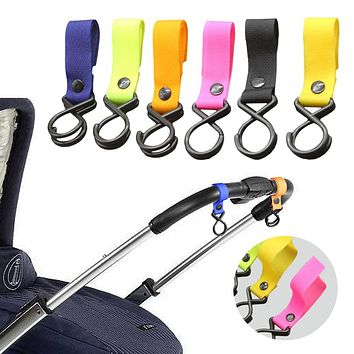2pcs Multifuctional stroller AccessoriesCar Hanger Hooks Clips baby Pram Pushchair Hanging Strap Hook for Baby Stroller Carriage