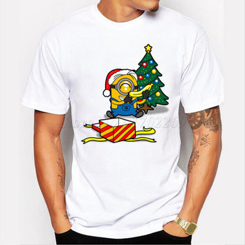 Asian Size All I Want For Christmas Is A Banana funny men t-shirt short sleeve tops hipster minions printed cool tee