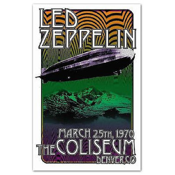 Led Zeppelin Reproduction Poster, 1970