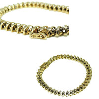 14k Diamond Tennis Bracelet 4.20 ctw 18g Gold