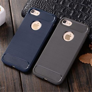 KRY Soft TPU Phone Cases For iPhone 5S Case 5 SE Thin Soft Carbon Fiber Cover For iPhone 5 Case 5S SE Cases Business Capa Coque