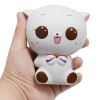 Squeeze Toy Jumbo Anti Stress Stretch Cat Cream Scented Slow Rising Squishy Cute Toys