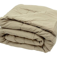 High Quality Oversized Down Alternative Comforter Super Soft 90 GSM- Taupe