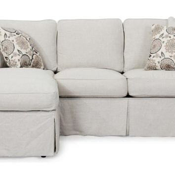 Horizon Slipcovered Sleeper Sofa and Chaise | Light Gray