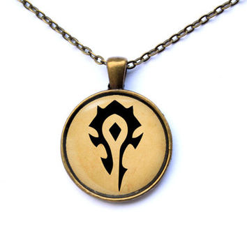 World of Warcraft necklace Horde pendant gamer jewelry