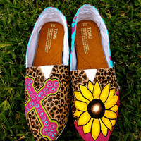 Flower and Cheetah TOMS