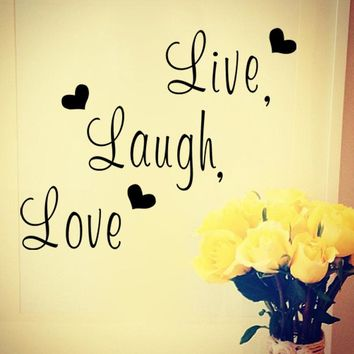"""""""Live laugh love"""" Inspirational Quote Wall Sticker for Decoration"""