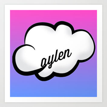 jc caylen cloud Art Print by Ronisdesigns