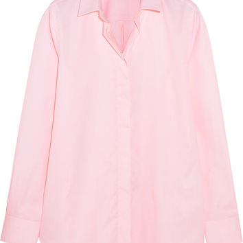Iris and Ink Thea cotton-poplin shirt – 0% at THE OUTNET.COM