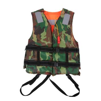 Professional Adult Life Jacket Polyester Life Vest Survival Vest for Water Sports Swimming Drifting Surfing Safety Sportswear