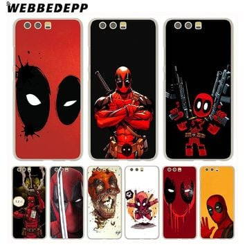 WEBBEDEPP Marvel Deadpool Comic Spiderman Phone Case for Huawei P20 Pro smart P10 P9 Lite 2016/2017 P8 Lite 2015/2017 Cover