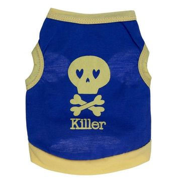 Hoomall 1PC Cool Bone Skull Puppy Dog Clothes Fashion Summer Killer Vest For Dogs Cotton Sports Dog Clothes Pet Accessories