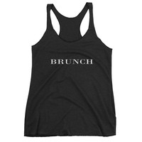 Brunch Brit Typography Racerback Tank Top