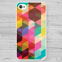 Abstract Geometric iPhone 4 Case - Colorful Triangle Pattern