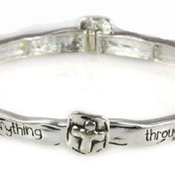 Philippians 4:13 Stretch Bracelet Christian Fashion Jewelry I Can Do ...