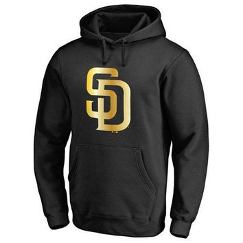 San Diego Padres MLB Black Gold Program Pullover Hoodie