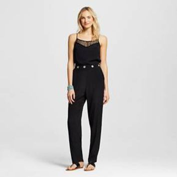 Women's Lace Trim Jumpsuit - XOXO (Juniors') : Target