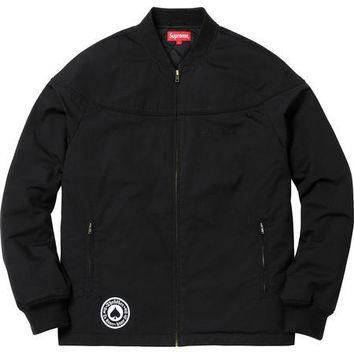 Supreme Thrasher Poplin Crew Jacket - Black