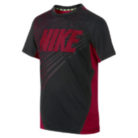 Nike Vapor Dri-FIT Graphic Boys' Training Shirt Size XS (Black)
