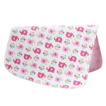 19*27 Inch Lovely Waterproof Breathable Baby Urine Pad-Pink Elephants