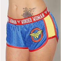 Wonder Woman Mesh Shorts - Spencer's