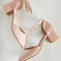 Swing Before Breakfast Block Heel in Rose | Mod Retro Vintage Heels | ModCloth.com