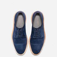 Suede Willet Cap Oxford in Blazer Blue