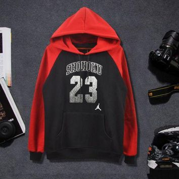 DCKL9 JORDAN 23 Color Blocking Long Sleeve Hoodies Sweater Pullovers