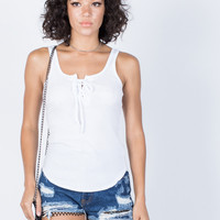 Pure Lace-Up Tank