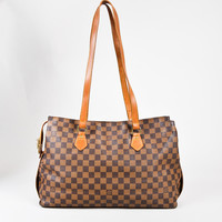 "Only 19$ today!Louis Vuitton Limited Edition Vintage Canvas Damier Ebene ""Chelsea"" Tote"
