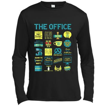 The Office Quote Mash-Up Funny  - Official Tee Long Sleeve Moisture Absorbing Shirt
