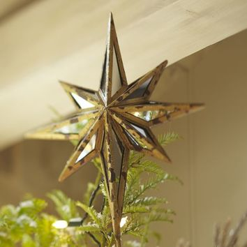 Mirrored Star Tree Topper