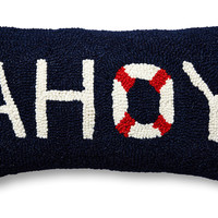 Ahoy 9x16 Wool Pillow, Navy