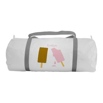 Ice Cream Personalized Duffle Gym Bag