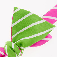 2-Panel Neon Stripe Bow Tie