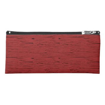 Red Wood Pencil Case
