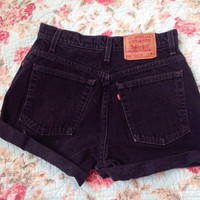 Black Levi Strauss shorts