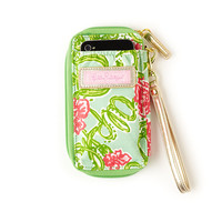 Lilly Pulitzer Sorority Carded ID Wristlet- Alpha Chi Omega