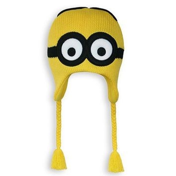 Party Favors Despicable Me 3 Dave Minion Knit Peruvian Beanie (Yellow)