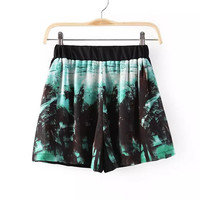 Summer Sea Beach Print Casual Pants Shorts [4917835332]
