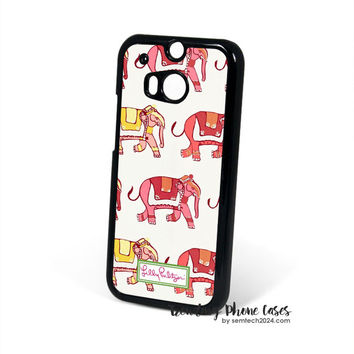 Elephant Cute Pattern-Lilly Pulitzer HTC One M8 Case Cover for M9 M8 One X Case
