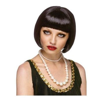 Flapper Girl Costume Wig Adult Roaring 20s Halloween Fancy Dress