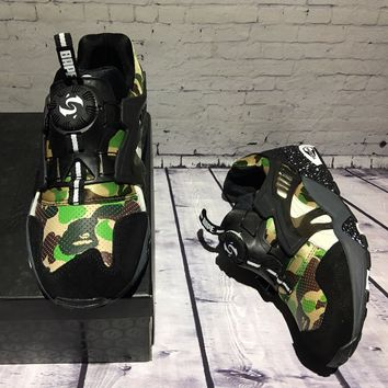 Bape X Puma Disc Blaze 3m Green Camo Sport Shoes Running Shoes