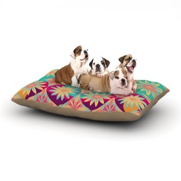 """Kess InHouse Nika Martinez """"Happy Flowers"""" Floral Abstract Dog Bed, 30 by 40-Inch"""