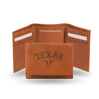 Texas Longhorns Leather Embossed Trifold Wallet