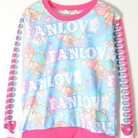 Harajuku Japanese Cartoon Loose Hoodie from Tobi's Finds