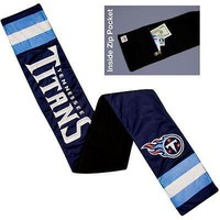 Tennessee Titans NFL Licensed Fleece-Lined Jersey Scarf FREE US SHIPPING