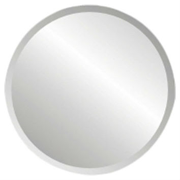 18-inch Round Circular Vanity Wall Mirror with Bevel Edge